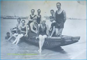 Pe malul Dunarii, la Braila, 1925