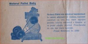 MOTORUL PATHE BABY