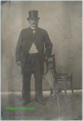 Barbat cu joben, dagherotipie, circa 1850