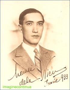 Portretul unui tanar in anul 1933