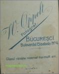 Sigla studioului foto W. Oppelt, Bucuresci, circa 1900