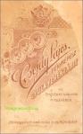 "Sigla atelierului foto ,, Csejdy Layos"" din Gyula ( Ungaria), circa 1890-1900"