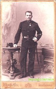 Ofiter din armata austro-ungara, circa 1895-1900