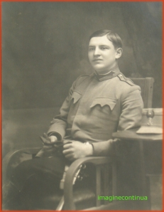 Portretul unui sublocotenent in anul 1916