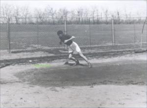 In alergare, circa 1939-1940