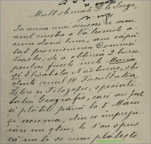 Scrisoare catre Nicolae Iorga