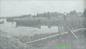 Asezare de pescari in Delta Dunarii