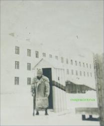 Militar in suba de iarna, circa 1943
