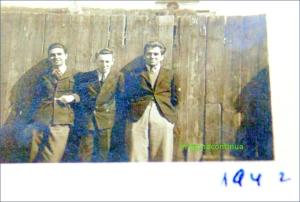Elevi de liceu in anul 1942