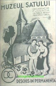 reclama pentru Muzeul Satului in perioada interbelica