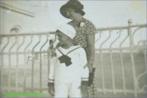 Enrico Fanciotti cu mama lui
