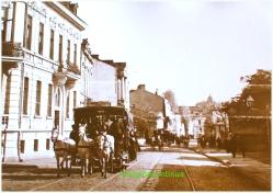 Tramvai tras de trei cai, circa 1909-1914