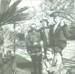 In curtea Institutului SANCTA MARIA din Braila, circa 1943