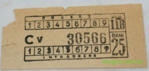 Bilet ITB, circa 1950