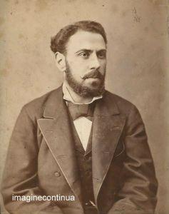 Portret de  barbat- foto M.Spirescu, Galati, cc.1870-1880